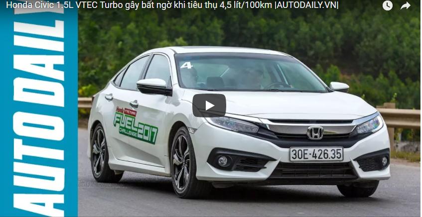 Honda Civic 1.5L VTEC Turbo gây bất ngờ khi tiêu thụ 4,5 lít/100km